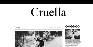 Cruella Premade Blogger Template by tiny-moon