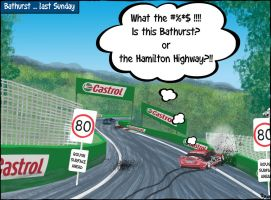 Bathurst last Sunday by Sopecartoons