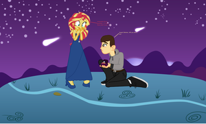 Sunset Shimmer, Will you marry me? by EpicCartoonsFan