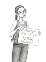 Thank you for 10,000 pageviews! by Xijalle
