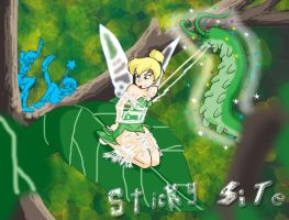 Tinkerbell's surprise by yomerome