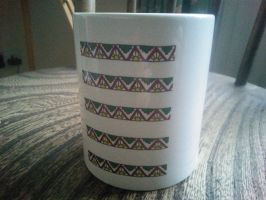 Aztec pattern mug by andrea-gould