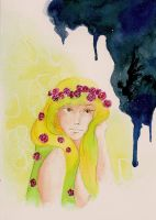 Persephone and a little messenger from Hades by Creationfail