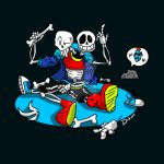 Papyrus and sans jumbled bones by Deanlord122