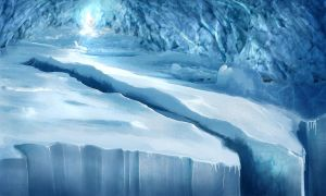 Ice Cave Chasm by Syker-SaxonSurokov