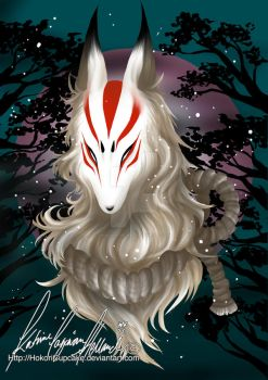 :.[Digital painting] Kitsune.: by HokoriCupcake