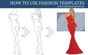 How to use fashion templates step by step by idrawfashion