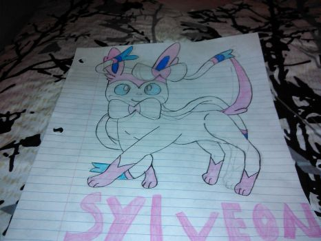 my second drawing about Sylveon by diamondforce12