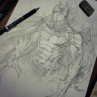 batman creature cyborg thingy by Sajad126