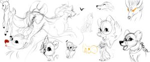 Sketch dump  by Poo-ky