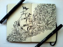 MOLESKINE DOODLES: Journey by kerbyrosanes