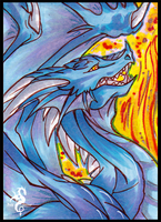ACEO Draconic Series - Dragon by Arofexdracona