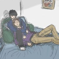 Drawing Challenge 1 - Domestic - AsherXBruce by KimiTakami