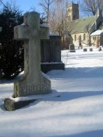 Winter Snow Grave Stone by SweetSoulSister