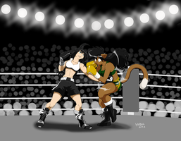 Ryoko Takeda vs Deborah Bispo. by Drawing-4Ever