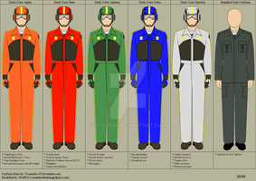 BSG Deck Crew Uniforms by Wolff60