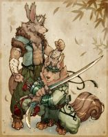 Tenka n Monka -color- by WhiteRum