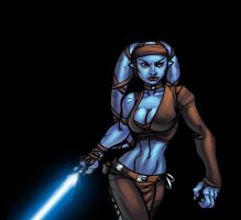 jedi chick colored by Alex0wens