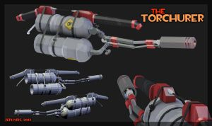 TF2 Weapon - The Torchurer (Flamethrower) by zephyris