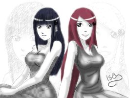 Hinata and Kushina by Isayuuki