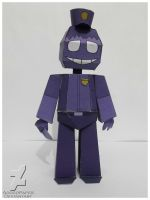five nights at freddy's 2 purple guy papercraft by Adogopaper