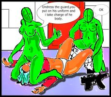 Zentai vs Alpha girl by lesther2011