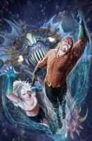 aquaman 26 cover by nebezial