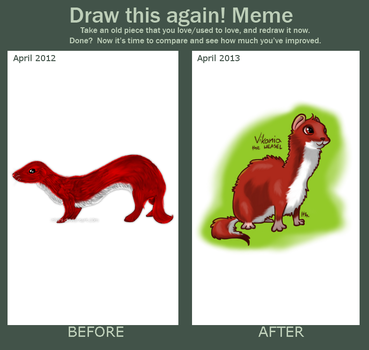 Draw This Again Meme - WEASEL by Ithlini