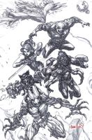 Guardians of the Galaxy (pencils) by emmshin
