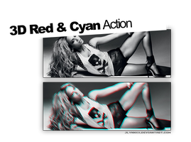 3D Red And Cyan. PS Action. by jlynnxx