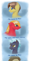 Asian Ponies Sing: Blue by FunnyFany
