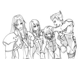 Sephiroth and the Reunion 3 by blackwing-dias