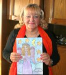 Ingeline and her angel of peace painting by ingeline-art