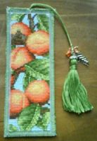 Peaches X Stitch Bookmark by black-lupin