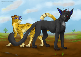 Big cats by FuzzyMaro