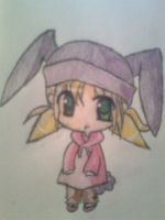 Chibi with a bunnyhat by FinnishGirl97