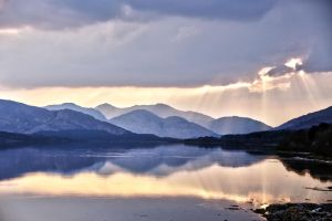 Highlands Loch at Dusk by Spyder-art