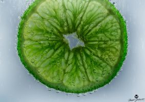 Green Lime in Tonic Water HDR by mjohanson