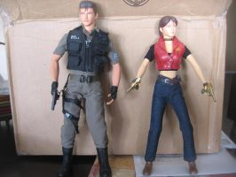 Resident Evil 1/6 scale Chris and Claire by Demon-Lord-Cosplay
