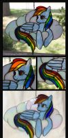 Rainbow Dash Stained Glass by Falconsong