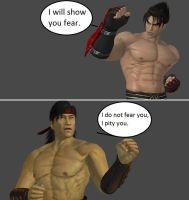 Injustice: Jin Kazama vs Liu Kang by xXTrettaXx