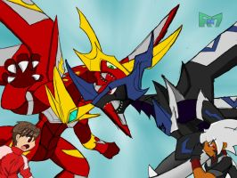 Clash of the dragonoids by Rollster007
