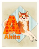 A is for Akita by Plaguedog