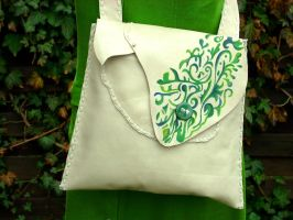 Floral pattern leather bag by izasartshop