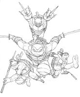 TMNT Sketch Commission by MurderousAutomaton
