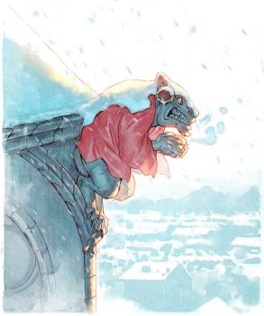 Snowy Rooftop by nakanoart