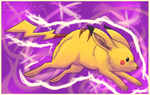 Pikachu Bolt Tackle by EstyDee