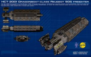 Dragonboat class Reugeot 905 freighter ortho [New] by unusualsuspex