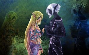 The Elf and the Drow by Faye--Faye