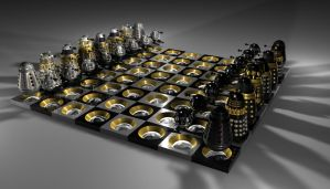 dalek chess by Slythenperior